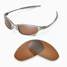 New Walleva Polarized Brown Replacement Lenses For Oakley Juliet Sunglasses