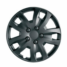 "Jet 15"" BLACK Car Wheel Trim - SINGLE TRIM - Plastic Cover BLACK - Universal"