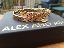 NEW ALEX and ANI VINTAGE 66 Russian GOLD WINDING Beaded Metal WRAP BRACELET