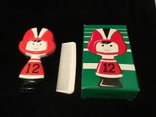Vintage Avon GRID KID Football Player Motif Hair Brush & Comb Set Original Box