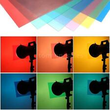6pcs Transparent Lighting Color Correction Gel Sheets Filters for Flash NG B0M7