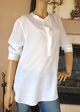 UNIQLO WOMEN RAYON 3/4 SLEEVE BLOUSE COLOR WHITE NWT SIZE XL