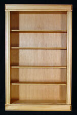 "4"" deep WALL CURIO CABINET  SHADOW BOX  DISPLAY CASE SHELF LIGHT OAK FINISHH"