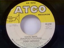 """DONNY HATHAWAY """"VOICES INSIDE / TRYIN TIMES"""" 45"""