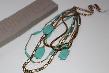 Silpada Brass Turquoise Toes In The Sand Necklace KRN0044 $149 NEW NWT