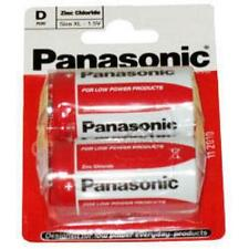 Panasonic Standard D Size Non Rechargable Primary Zinc Carbon Battery Twin Pack
