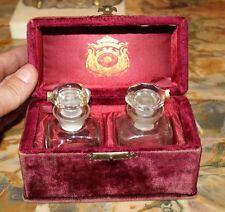 Gorgeous Early 1900s Velvet Colgate Perfume Box W Bottles
