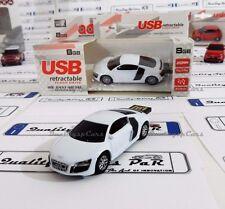Chiavetta USB 8GB Autodrive AUDI R8 ORIGINALE memory stick flash PEN drive bianc