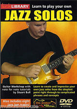 LICK LIBRARY LEARN TO PLAY YOUR OWN JAZZ SOLOS Guitar Workshop Lesson Tutor DVD