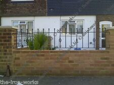 # MANOR DECOR  WROUGHT IRON METAL FENCING RAILINGS MADE TO ORDER ANY SIZE #6FT#