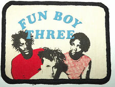 FUN BOY THREE Original Vintage 1980`s Printed Sew On Patch