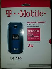 LG 450 - Black (T-Mobile) Cellular Phone