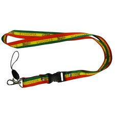 ETHIOPIA COUNTRY FLAG LION OF JUDAH LANYARD KEYCHAIN PASSHOLDER ..  NEW