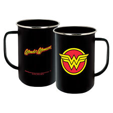 WONDER WOMAN LOGO - ENAMELWARE MUG - BRAND NEW 20 OUNCES DC COMICS COFFEE 07577