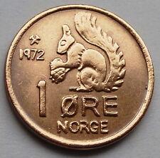 NORWEGISCHE TIERE 1 Øre Öre 1972 BRONZE VORZÜGLICH/UNZIRKULIERT- ef/uncirk.
