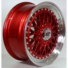 4xGTP 040 Alufelgen 7,5x17 4x100 4x108 ET35 Candy Red Rot BBS RS style Golf 3