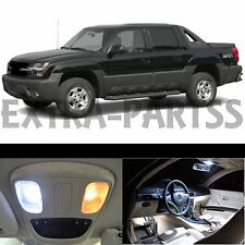 20x White LED Lights Interior Package Kit 2002-2006 Chevy Avalanche