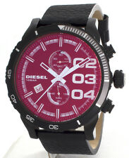 Diesel Men's Double Down Series Analog Display Quartz Black Watch DZ4311
