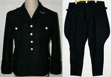 WW2 GERMAN ELITE M32 BLACK WOOL TUNIC & BREECHES Size M
