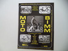 advertising Pubblicità 1972 MOTO BIMM CROSS P/4 50/BILLO/EZ M/ P/3 T