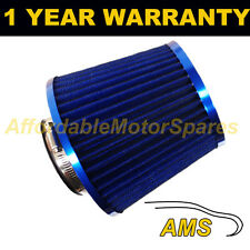 BLUE UNIVERSAL PERFORMANCE CONE INDUCTION KIT MESH AIR FILTER WITH ADAPTORS