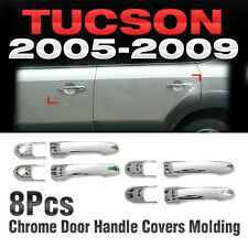 Chrome Side Door Handle Covers Molding Trim A265 Fit HYUNDAI 2005-2009 Tucson