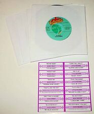 Early 60's Volume 1 45 RPM Jukebox 25 Record Set With Printed Title Strip Cards