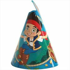 JAKE and the NEVER LAND PIRATES CONE HATS (8) ~ Birthday Party Supplies Favors