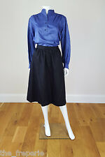 *YVES SAINT LAURENT* VINTAGE RIVE GAUCHE FLARED MIDI SKIRT 40
