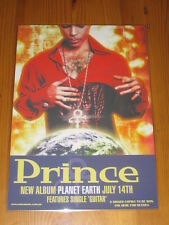 PRINCE - PLANET EARTH -  LAMINATED PROMOTIONAL POSTER