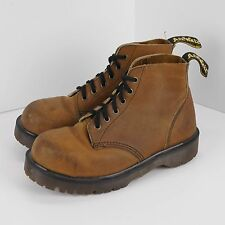 Vintage Dr Marten Womens Steel Toe Size US 7 UK 5 Ankle Boots Brown Leather Docs