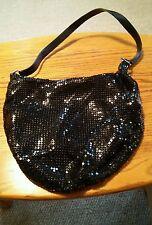 015 Cato Black Shiny Metal Mesh Purse Handbag Evening Bag