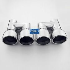 "3.5"" outlet quad resonated exhaust tips for Audi A4 A5 A6 A7 A8 S4 S5 S6 S7 S8"