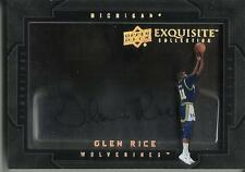 Glen Rice 11/12 Exquisite Collection Dimensions Autograph