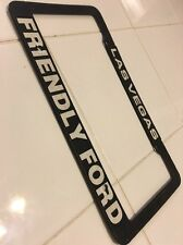 Las Vegas Friendly Ford  License Plate Frame Mead Out Of Metal Vintage