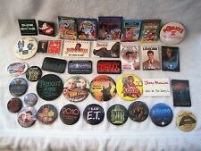 Lot Of 37 Movie Button - Pin - Badges - Ghostbusters, Rocky Horror, Et, Aliens.