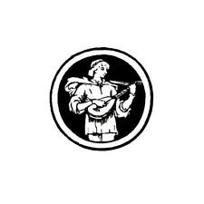 Renaissance Lute player unmounted rubber stamp, music #10