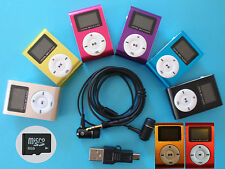 MP3 Player mit LCD Screen mit 8GB Micro SD Karte Clip-Funktion Aluminium Metall.
