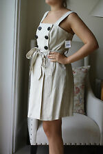 MILLY SAND LINEN DRESS US 10 UK 14