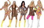 Groovy Hippy Girls Ladies Fancy Dress 1960s-1970s Hippie Retro Mini Costume 8-18