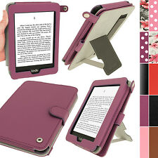 "Purple PU Leather Case for Amazon Kindle PaperWhite 3G 6"" Wi-Fi 2GB Cover Holder"