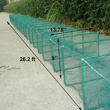 Crab Shrimp Minnow Crawdad Lobster Foldable Bait fishing Cage trap net S817