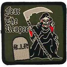 FEAR THE REAPER ON OLIVE GREEN BACK GROUND PATCH (PM00884)