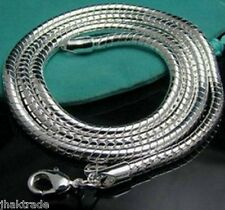 "Mens 925 Sterling Silver Snake Neck Chain Necklace Chain 30"" Long 3mm Thick - UK"
