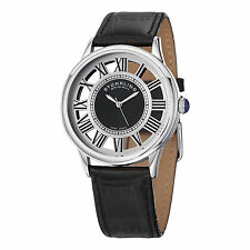 Stuhrling Original Men's 890G.01 Dress Symphony Black Leather Swiss Quartz Watch