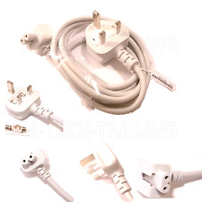 GENUINE APPLE MACBOOK PRO AIRBOOK UK ADAPTER POWER CABLE CORD  LEAD 1.8M