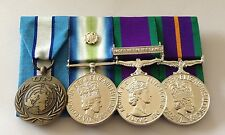 UN Cyprus, Falklands, GSM Northern Ireland, ACSM, Full Size Court Mounted Medals