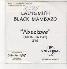 (BK518) Ladysmith Black Mambazo, Abezizwe - 1999 DJ CD