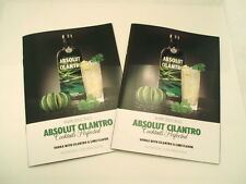 Lot of TWO Absolut Cilantro Vodka recipe booklets. Nice.