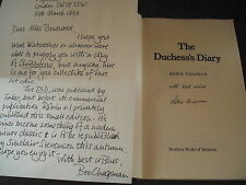 THE DUCHESS'S DIARY Robin Chapman Rare Signed 1st Edition 1980 Boudicca Books
